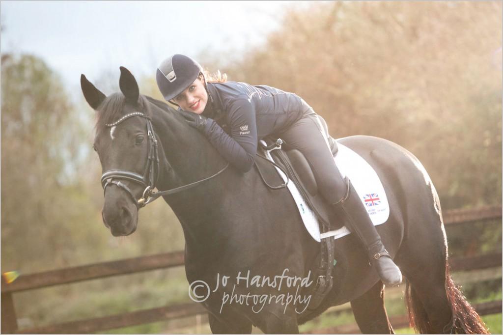 Equine photography, London – Natasha Baker MBE & Sooki at home