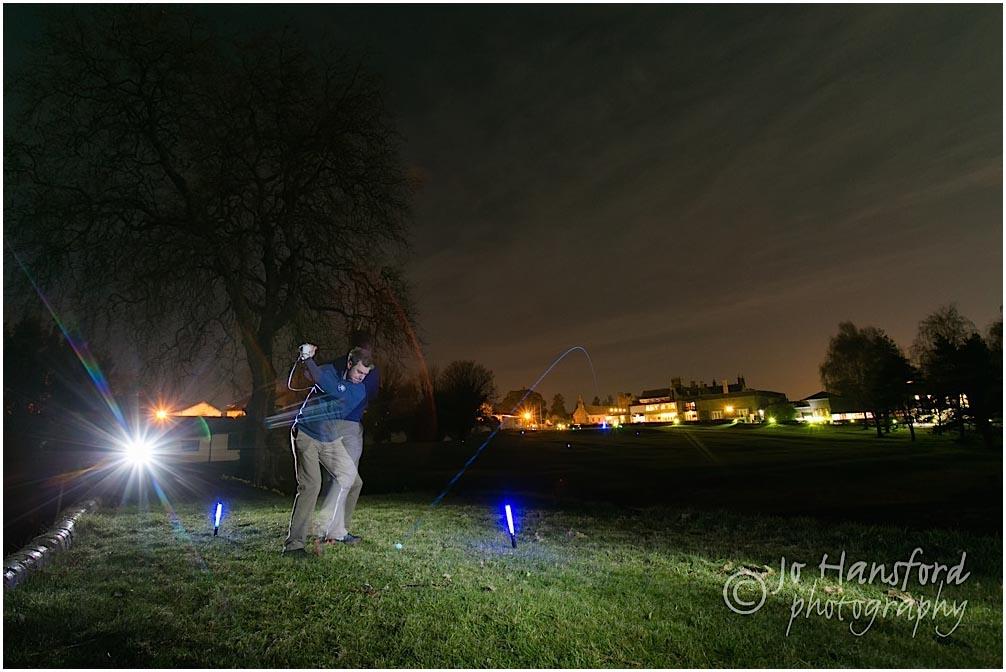 Night Golf photography St Pierre Jo Hansford