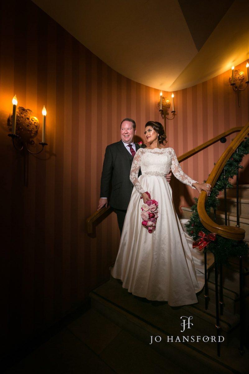 Winter wedding at Whatley Manor – Noreen & Simon