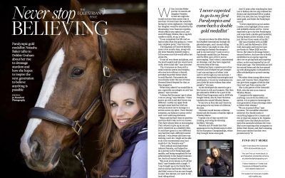 Sponsored Rider Natasha Baker featured in Cotswold Life
