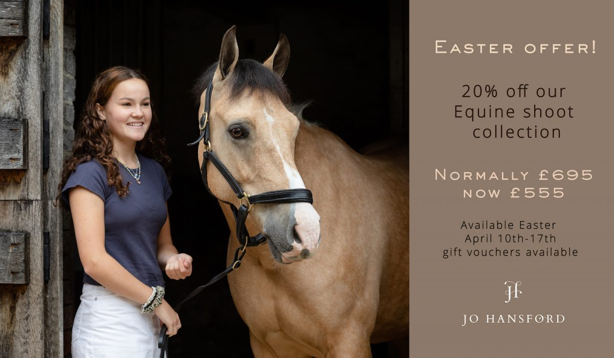 Easter Equine photography shoot offer Jo Hansford
