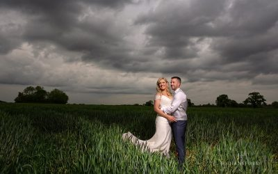 Great Tythe Barn wedding photography – Kat & Gavin's vibrant day, a year ago today!
