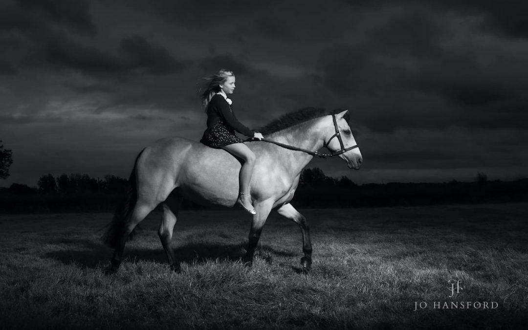 Making memories – Amelia and her horses