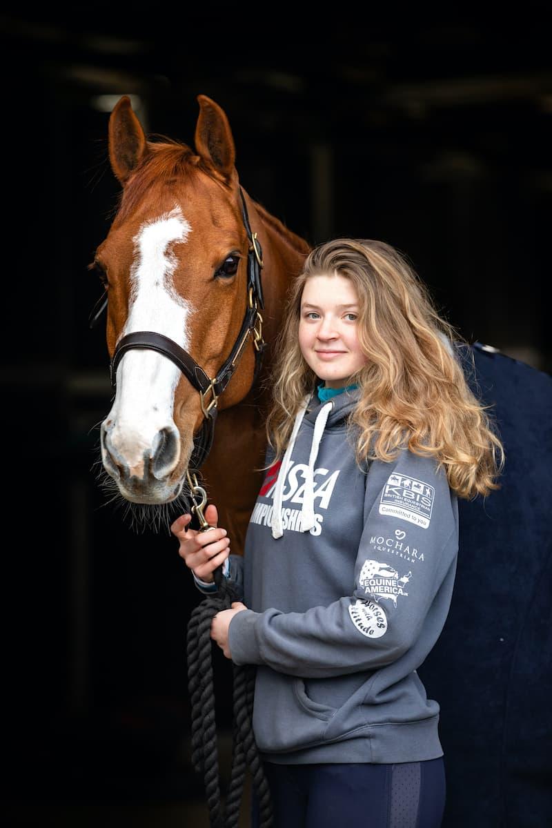 Young rider Ellie Fredericks Jo Hansford